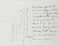 Autographs:Artists, Walter C. Horsley (1855-?, British Painter). Autograph LetterSigned. Very good....