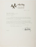 Autographs:Authors, Richard E. Bishop. Typed Letter Signed. Near fine....