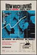 "Movie Posters:Sexploitation, Common Law Cabin (Eve Productions, 1967). One Sheet (27"" X 41"").Sexploitation. Previous Title: How Much Loving Does a Nor..."