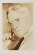 Autographs:Authors, Norman Douglas (1868-1952, British Writer). Small Photograph, Signed on Verso. Very good....