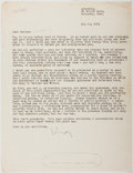 Autographs:Authors, Kay Boyle (1902-1992, American Writer). Typed Letter Signed. Very good....