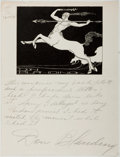 Autographs:Authors, Don Blanding (1894-1957, American Poet). Group of Two Autograph Letters Signed and One Typed Letter Signed. Very good....