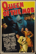 "Movie Posters:Crime, Queen of the Mob (Paramount, 1940). One Sheet (27"" X 41""). Crime.. ..."