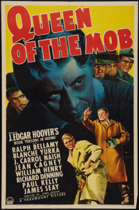 "Queen of the Mob (Paramount, 1940). One Sheet (27"" X 41""). Crime"