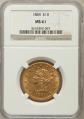 Liberty Eagles: , 1884 $10 MS61 NGC. NGC Census: (77/50). PCGS Population (43/65).Mintage: 76,800. Numismedia Wsl. Price for problem free NG...