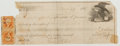 Autographs:Authors, Nineteenth Century Promissory Note. 1865. Tattered. About good....