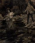 Mainstream Illustration, HENRY SUMMER WATSON (American, 1868-1933). The Angler. Oilon canvas. 20 x 16 in.. Signed lower left. From the Estat...