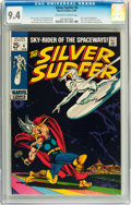 Silver Age (1956-1969):Superhero, The Silver Surfer #4 (Marvel, 1969) CGC NM 9.4 Off-white to white pages....