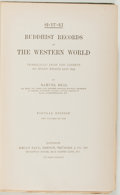 Books:World History, Samuel Beal. Buddhist Records of the Western World. Kegan Paul, [n. d.]. Popular edition. Very good....