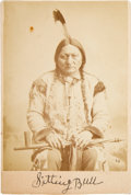 Photography:Cabinet Photos, Sitting Bull: A Very Fine Cabinet Photo. ...