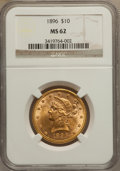 Liberty Eagles: , 1896 $10 MS62 NGC. NGC Census: (555/229). PCGS Population(328/142). Mintage: 76,200. Numismedia Wsl. Price for problemfre...