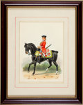 Military & Patriotic:Foreign Wars, Paintings: F. Stansell: Four Paintings of the 16th Queen's Lancers, c. 1914,... (Total: 4 Items)