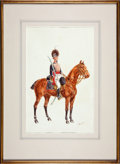 "Military & Patriotic:Foreign Wars, Paintings: Reginald Wymer, ""Royal Artillery Officer, 1830"" and ""Royal Horse Artillery Officer, 1815"",... (Total: 2 Items)"