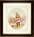 Military & Patriotic:Foreign Wars, Painting: C. Pickering: Officer of the Life Guards, c. 1890,...