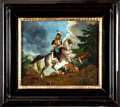 Military & Patriotic:Foreign Wars, Painting: Mounted French Cuirassier, 19th Century....