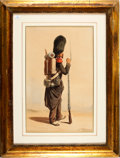 Military & Patriotic:Foreign Wars, Painting: A. Delacroix, Second Empire French Grenadier,...