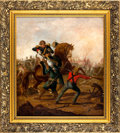Military & Patriotic:Foreign Wars, Painting: British Attack on the Mutineers, Circa 1858....