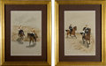 Military & Patriotic:Foreign Wars, Paintings: Pair of Victorian Military Paintings,... (Total: 2 Items)