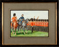 Military & Patriotic:Foreign Wars, Painting: W. B. Wollen: Review of the Northumberland Fusiliers by on St. George's Day by H.R.H. Prince George, Duke of Cambrid...