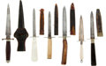 Edged Weapons:Daggers, Group of Six Dirks ... (Total: 6 Items)