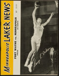 Basketball Collectibles:Programs, 1950 Minneapolis Lakers Program - George Mikan Cover....