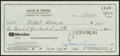 Basketball Collectibles:Others, Julius Dr. J Erving Signed Check....
