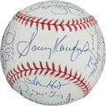 Autographs:Baseballs, Circa 2000 Cy Young Award Winners Multi-Signed Baseball....