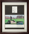 Golf Collectibles:Autographs, Arnold Palmer Signed Display....