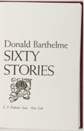 Books:Fiction, Donald Barthelme. SIGNED/LIMITED. Sixty Stories. Putnam,1981. Limited to 500 numbered and signed copies. Slipca...