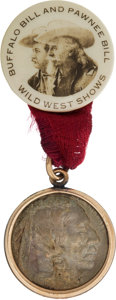Western Expansion:Cowboy, Buffalo Bill & Pawnee Bill: An Uncommon Badge. ...