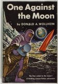 Books:Science Fiction & Fantasy, [Jerry Weist]. Donald A. Wollheim. One Against the Moon. World, 1956. Very good....