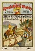 Memorabilia:Poster, Young Rough Riders Weekly Store Poster (c. 1906)....