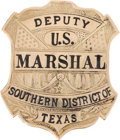 Western Expansion:Cowboy, Gold Texas Deputy Marshal Badge....