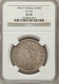 Bust Half Dollars: , 1812/1 50C Small 8 XF45 NGC. O-102. NGC Census: (15/55). PCGSPopulation (19/64). Numismedia Wsl. Price for problem free N...