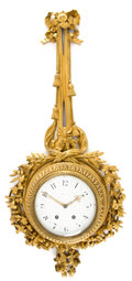 Timepieces:Clocks, A FRENCH GILT BRONZE WALL CLOCK RETAILED BY TIFFANY . Makerunidentified, Paris, France, circa 1880-1900. Retailed by Tiffan...