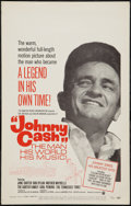 "Movie Posters:Documentary, Johnny Cash! The Man, His World, His Music (Continental, 1969). Window Card (14"" X 22""). Documentary.. ..."