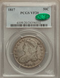 Bust Half Dollars: , 1817 50C VF20 PCGS. CAC. PCGS Population (19/510). NGC Census:(10/369). Mintage: 1,215,567. Numismedia Wsl. Price for prob...