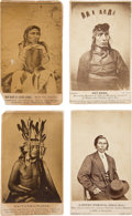 Photography:CDVs, Sioux Uprising of 1862: Four Very Scarce Carte de Visite Images by Pioneer American Photographer Joel Emmons Whitn... (Total: 4 Items)