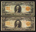 Large Size:Gold Certificates, Fr. 1181 $20 1906 Gold Certificate Very Fine;. Fr. 1185 $20 1906 Gold Certificate Fine.. ... (Total: 2 notes)