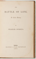 Books:Literature Pre-1900, Charles Dickens. The Battle of Life. Todd E1, Eckel 4variant. 32mo. Leather binding. Near fine. Unless otherwise no...
