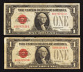Small Size:Legal Tender Notes, Fr. 1500 $1 1928 Legal Tender Notes. Two Examples. Very Good or Better.. ... (Total: 2 notes)