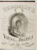 Books:Color-Plate Books, [Color-plate book]. Demorest's Young America. Small quarto. With several hand-colored plates. Leather binding. G...