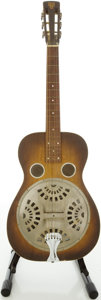 Musical Instruments:Resonator Guitars, Circa 1935 Dobro 27-G Dark Stain Resonator Guitar, #5986....