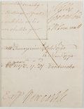 Autographs:Statesmen, [Revolutionary War]. Fragment of Document, with Signatures,including that of C. W. Cornwall, the Speaker of the House ofComm...