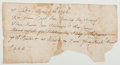 Autographs:Statesmen, [Eighteenth-Century American Naval Document]. Payment Receipt(April 28th 1746) for payment for piloting work. Fair....