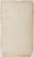 Autographs:Statesmen, [Nineteenth-Century Ledger]. A Fragment of a Nineteenth-CenturyLedger. Fair....