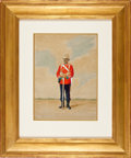 Military & Patriotic:Foreign Wars, Painting: W. A. Mann, Soldier of the 24th Regiment of Foot (South Wales Borderers) 1877,...