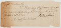 Autographs:Statesmen, [Revolutionary War]. Eighteenth-Century (27th April, 1775) PaymentRequest Addressed to Continental Army Supplier, Capt. Jerem...