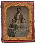 Photography:Ambrotypes, Very Early Or Pre War Quarter Plate Ambrotype Of Young Soldier With Confederate ID....