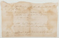 Autographs:Statesmen, [Revolutionary War]. Manuscript Payment Record. Fair....